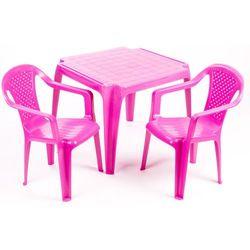stolik i dwa krzesła dla dzieci, różowe marki Grand soleil