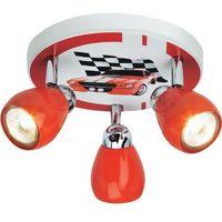 BRILLIANT Lampa sufitowa Racing kolor czerwono-biały z kategorii Oświetlenie dla dzieci