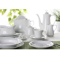 CHODZIEŻ BIAŁA KAMELIA Serwis obiadowy i kawowy 84/12 C000 + sztućce GRATIS!