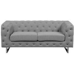 Sofa tapicerowana dwuosobowa jasnoszara VISSLAND
