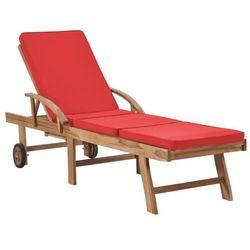 Czerwony leżak ogrodowy - santori marki Elior