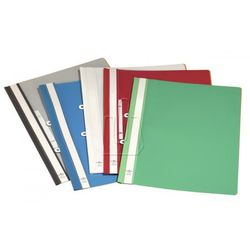 Skoroszyt Durable A4 PVC z zaczepem do segregatora czarny 25 sztuk 2580-01 (4005546214597)