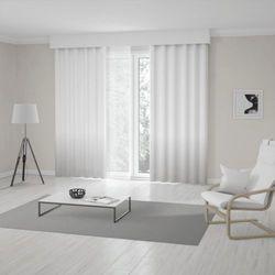 Zasłona okienna na wymiar - SNOW WHITE - KOLOR 100 CM