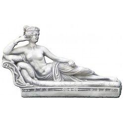 Figura ogrodowa betonowa kobieta leżąca na szezlongu 20cm
