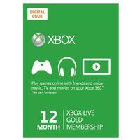 Xbox Live Gold 12 miesięcy subskrypcja