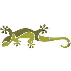 Wieszak ścienny gecko  cedrowo-zielony marki Calleadesign