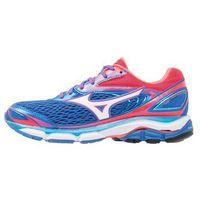 Mizuno WAVE INSPIRE Obuwie do biegania Stabilność strong blue/white/diva pink, kolor niebieski