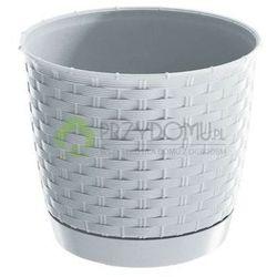 Doniczka Ratolla Round DRLO250 biała, towar z kategorii: Doniczki i podstawki