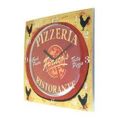Zegar ścienny kwadrat pizza, T1218P1
