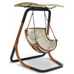 Beżowy fotel wiszący z daszkiem - Pasos 3X, fotel_bujany_z_daszkiem