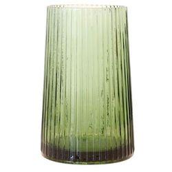 wazon szklany zielony, rozmiar m agl4412 marki Hk living