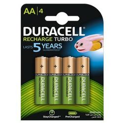 4 x akumulatorki Duracell Stays Charged Duralock R6/AA 2400 mAh (blister)