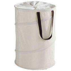 Okrągły kosz na pranie pop-up, beżowy - 75 l, marki Wenko