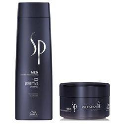 Wella Sp Men | Zestaw: Szampon Sensitive 250ml + pasta Precise Shine 75ml (00010001)
