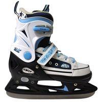 Łyżwy hokejowe regulowane  a0346 mell (rozmiar 29-32) marki Axer sport