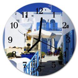 Zegar ścienny okrągły grecja marki Tulup.pl