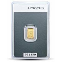1 g sztabka złota certipack marki Argor-heraeus, pamp, münze Österreich