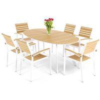 Home&garden Meble ogrodowe home&garden 889684 lorenzo aluminiowe biało-teak + darmowy transport! (590