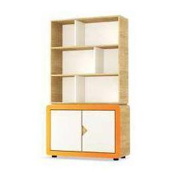 Timoore Kredens dwudrzwiowy frame dębowo-pomarańczowy