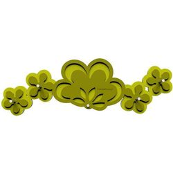 Wieszak na klucze Merletto CalleaDesign oliwkowo-zielony