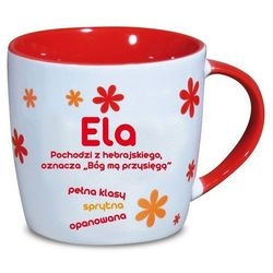 Nekupto, Ela, kubek ceramiczny imienny, 330 ml