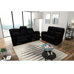 Valetta - sofa 3 relax elektryczna + sofa 2 - ciemny brąz marki Interform