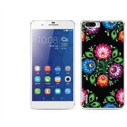 Fantastic Case - Huawei Honor 6 Plus - etui na telefon Fantastic Case - czarna łowicka wycinanka (Futerał te