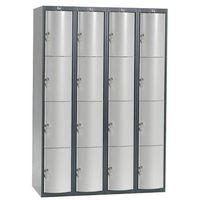Ekskluzywne szafy osobiste 4x4 schowkim Kolor drzwi: Jasny szary metalizow