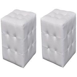 Vidaxl białe pufki. (8718475029236)