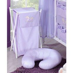 MAMO-TATO Kosz na bieliznę Wesołe zajączki w fiolecie z kategorii kosze na pranie