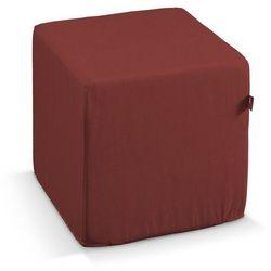 pufa kostka twarda, ciemno czerwony o wyraźnej strukturze, 40x40x40 cm, living marki Dekoria