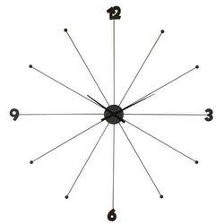 KARE Design:: Zegar Like Umbrella black - Kare design:: Zegar Like Umbrella ||srebrny, kolor czarny