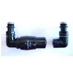 Zestaw zawór grzejnikowy termostatyczny czarny połysk od producenta Vario term