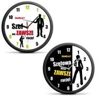 Zegar dla szefa/szefowej - Dla szefowej - czarny