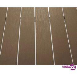 Beliani Aluminiowe meble ogrodowe brązowe NARDO (7081451871626)
