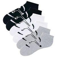 Skarpetki stopki Chiemsee (6 par) bonprix czarny + biały + szary melanż