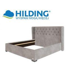 Łóżko tapicerowane GLAMOUR 115 - HILDING, Rozmiar - 200x200 cm, Tkanina - Grupa I, Nóżki - Drewniane - lo