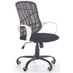 Wentylowany fotel Regan - czarny + biały