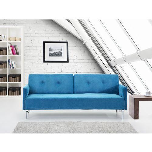 Sofa do spania - kanapa rozkladana - morska - Lucan, produkt marki Beliani