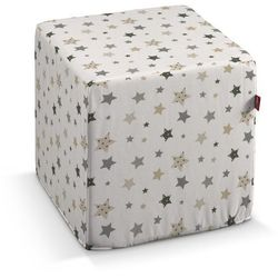 Dekoria Pufa kostka twarda, gwiazdki na białym tle, 40 × 40 × 40 cm, Adventure