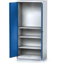 B2b partner Szafa warsztatowa mechanic, 1950 x 920 x 500 mm, 3 półki, niebieskie drzwi
