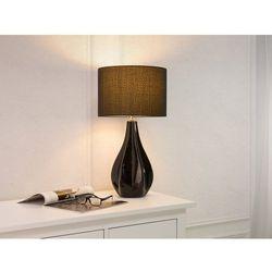 Beliani Nowoczesna lampka nocna - lampa stojąca w kolorze czarnym - santee (7081451658722)