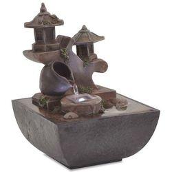 Vidaxl fontanna pokojowa ze światłem led, żywica syntetyczna