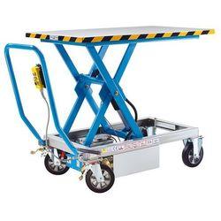 Nożycowy podnośny wózek stołowy, podnoszenie elektrohydrauliczne, nośność 1000 k marki Eurokraft