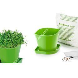 Zioła w kuchni - zestaw donica z podstawką, ziemia oraz nasiona rzeżuchy |  sense - # zioła wyprodukowany przez Tescoma