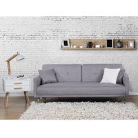 Sofa z funkcją spania szara - kanapa rozkładana - wersalka - lucan od producenta Beliani