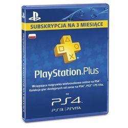 subskrypcja playstation plus (3 m-ce karta zdrapka), marki Sony