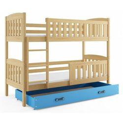 Piętrowe łóżko dla dzieci drewniane 80x190 - celinda 2x marki Elior