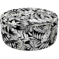 Ogrodowy puf dmuchany jully w etnicznym stylu – 53 × 23 cm (śr. × wys.) – kolor czarny i biały marki Vente-unique.pl