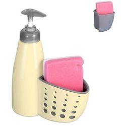 Dozownik do mydła płynu do naczyń z gąbką BEŻOWY